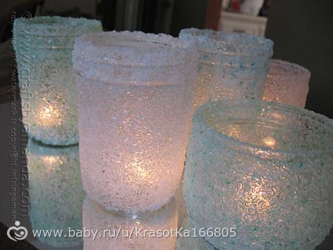 Подсвечники из банок своими руками из соли