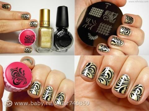 Стремпинг ( рисунки на ногтях)