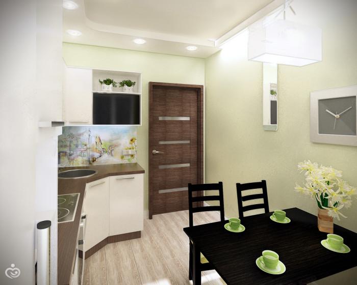 Дизайн двухкомнатной квартиры 48 кв.м
