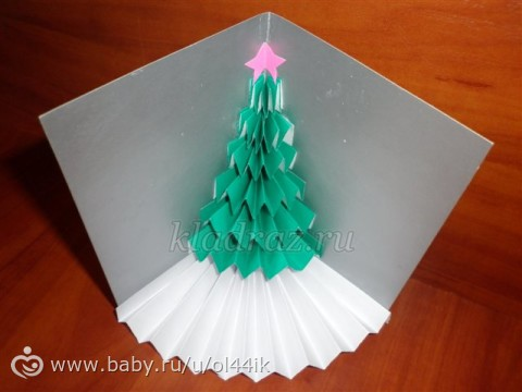 Новогодняя открытка своими руками пошаговое фото