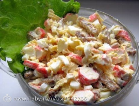 фото салатов с сухариками