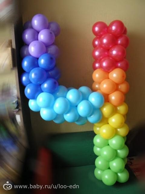 Цифра 4 на день рождения из шаров своими руками