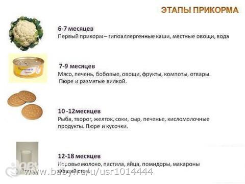 Как ввести прикорм с каш схема