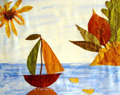 Поделки из листьев на тему осень своими руками картинки