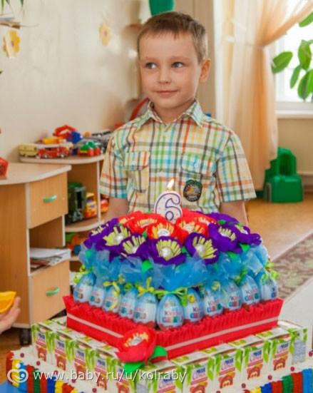 Торт в детский сад на день рождения из сладостей своими руками