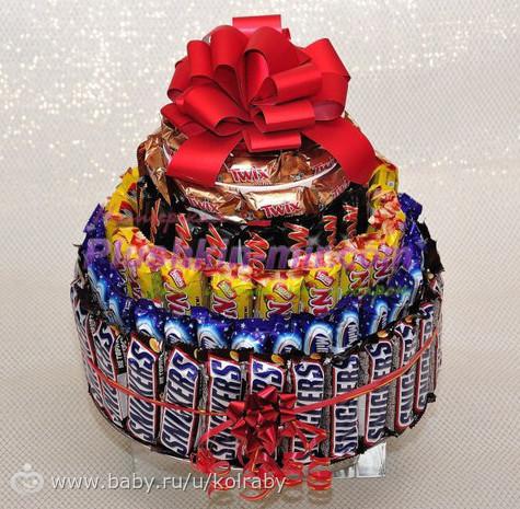 Как из конфет сделать подарок 29