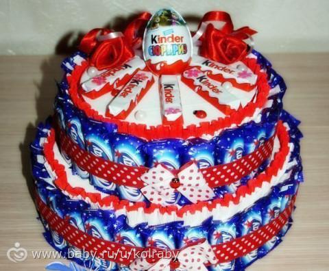 Торт из конфет своими руками на день рождения ребенка в садик