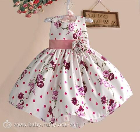детские платья для девочек выкройка