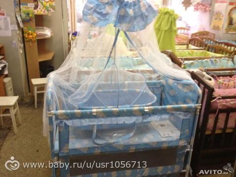 Кроватка из ткани для новорожденных