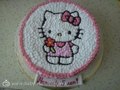Торт с хелло китти из крема фото