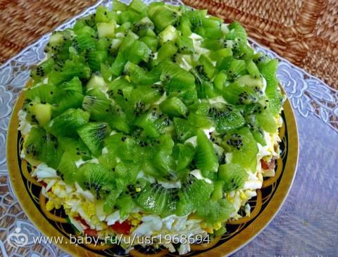 Рецепт салата с киви с
