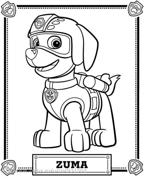 Раскраски с собачьего патруля