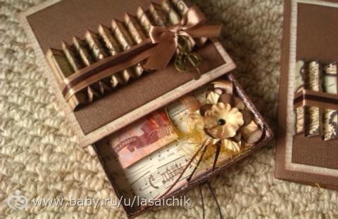 Коробка подарков для мужчины на день рождения своими руками