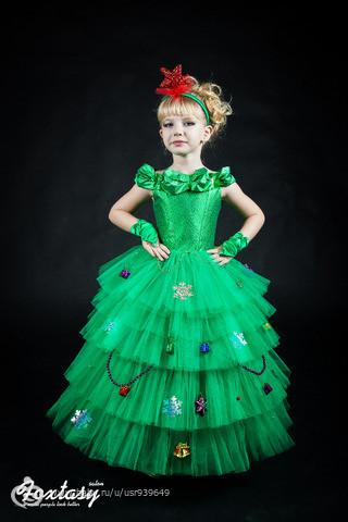 Как сшить платье к новому году девочке