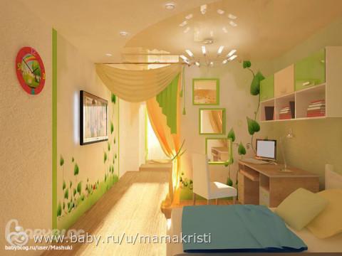 Дизайн детских комнат разделение на две зоны