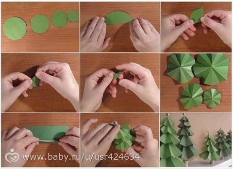 Как сделать ёлочку своими руками маленькую