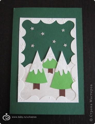 Детские открытки своими руками новогодние