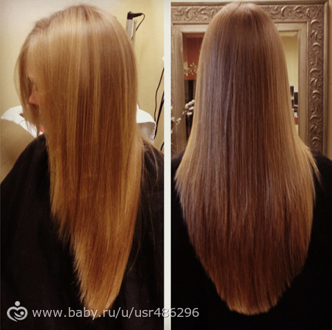 Стрижка длинных волос треугольником фото сзади
