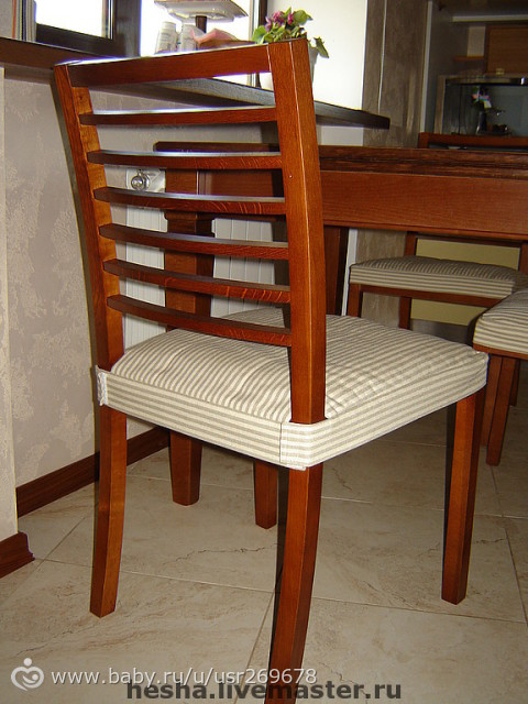 Чехлы для сидушек стульев
