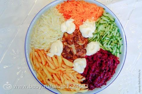 Салат огород рецепт с фото с чипсами