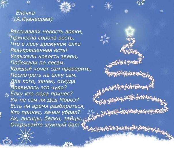Новогодние стихи про елочку
