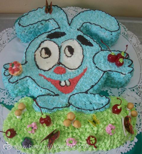 Сливочное оформление детских тортов фото