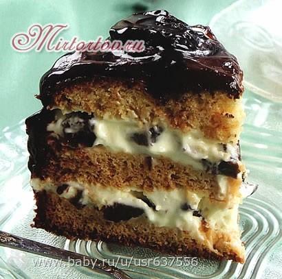 торт чернослив рецепт с фото