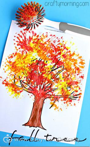 осенние рисунки для школы 1 класс фото