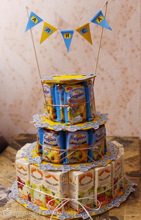 Торт из детского питания своими руками