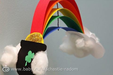 Поделка радуга и облака