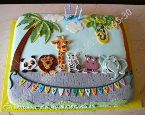 Фото тортов к детскому дню рождению