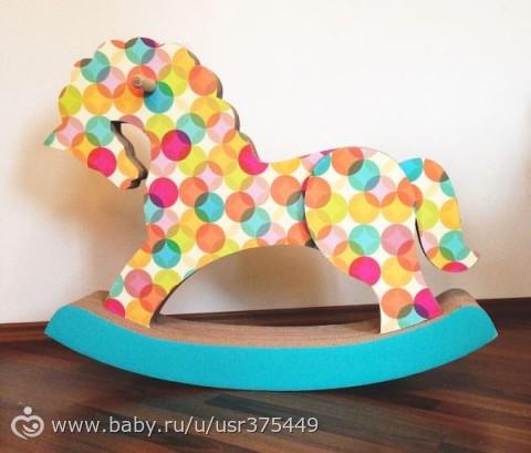 Лошадка-качалка для кукол в детскую кукольную комнату (небольшой МК)