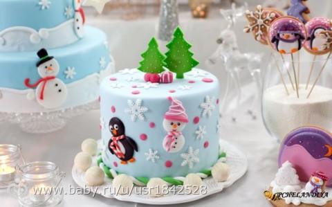 Картинки новогоднего торта