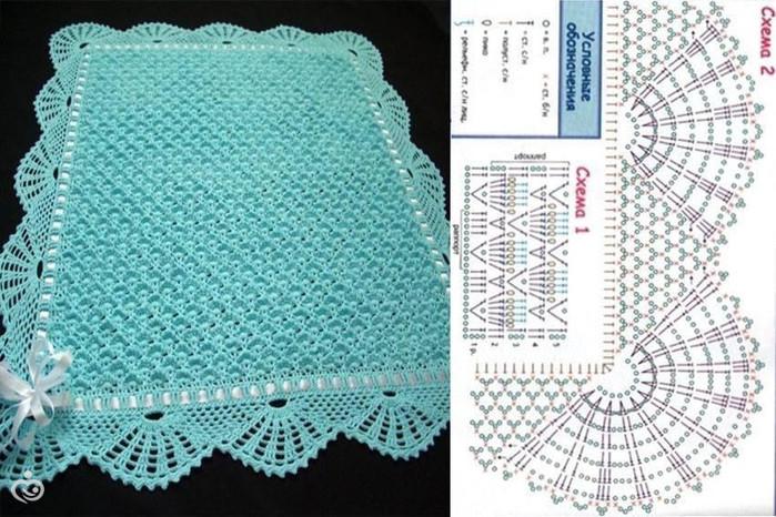 натуральным покрывало для грудного ребенка вязание крючком Helly