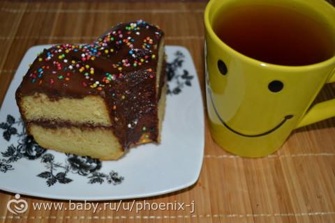 Кукурузный кексик-тортик